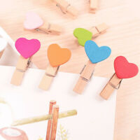 50X Mini Wooden Love Pegs Tiny Wedding Hanging Photo Small Clips Crafts 35mm