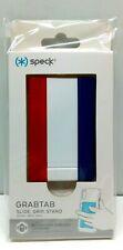 Speck GrabTab Finger Grip/Kickstand - White/Red/Blue