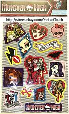 MONSTER HIGH x 15 Count* GHOULISH GLITTER Stickers VARIOUS CHARACTERS Mattel 3/3