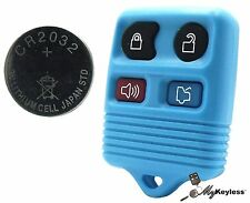 NEW TEAL FORD LINCOLN MERCURY KEYLESS ENTRY CAR REMOTE KEY FOB + EXTRA BATTERY