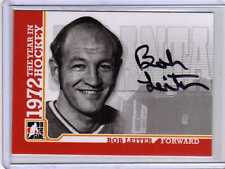 BOB LEITER 09/10 ITG 1972 THE YEAR IN HOCKEY Auto A-BL Autograph Hard-Signed