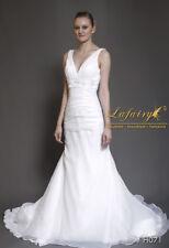 Lafairy vestido de novia inmediatamente h071 talla 34/36/38/40 blanco