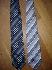 BRICE Lot de 2  Cravate 100% soie largeur maxi 9,5 cm longueur 152 cm