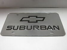 SUBURBAN CHEVY Acrlic Mirror License Plate Auto Tag nice