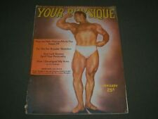 1948 JANUARY YOUR PHYSIQUE MAGAZINE - JOHN GRIMEK COVER - SP 6283