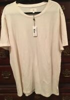 NWT AG JEANS ADRIANO GOLDSCHMIED CLIFF Crew Neck Cotton T Shirt IVORY sz 2XL $68