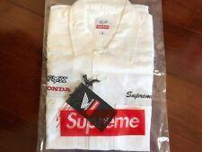 Supreme Honda Fox Racing Work Shirt White Small IN-HAND