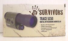 12 Survivors Trace 5x50 Digital Night Vision Recording Monocular 800x600 TS18053