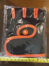 MMA Practise Pair of Gloves Fingerless Orange / Black Medium Size New