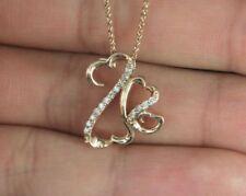 Collares y colgantes de joyería naturales de oro rosa, amor y corazones