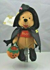 "Disney Store Plush 8 "" Winnie the Pooh Witch Pumpkin Plush Bean Bag Toy all tags"