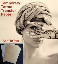 !Temporary Tattoo Transfer Paper 10 sets/lot A4 Laser Tattoo DIY Art Water Decal