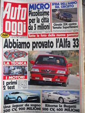 Auto OGGI n°164 1990 Provata la nuova ALFA 33 - Scheda Maserati 422  [Q201]