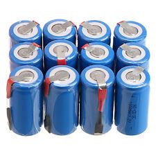 12PCS Blue Sub C SC 1.2V 1800mAh Ni-Cd NiCd Rechargeable Battery Batteries & Tap