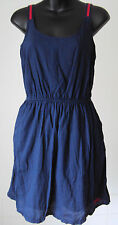Superdry - Navy Blue Sun- dress Sporty Strappy with pockets/lined - XS- 8