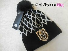 Las Vegas Golden Knights Adidas Pom Beanie hat made with 250+ Swarovski crystals