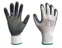 Warrior Nitrile Coated Grip Palm Work Gloves Builders Gardening Size 7 8 9 10
