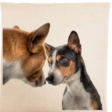 More details for basenji cushion cover full colour image luxury feel pillow dog