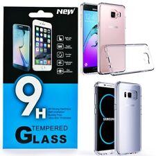 für Samsung Galaxy J6 A5 A6 Plus 2018 Transparente Hülle Case / Glas Panzerfolie