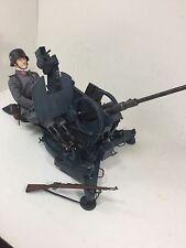 1/6 DRAGON GERMAN LUFTWAFFE 2cm FLAK 38 ANTI AIRCRAFT GUN+GUNNER BBI 21 DID WW2