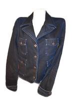 Ralph Lauren Frauen NWT Denim Jeans Portrait Blau Waschung Jacke Blazer Sz 10 S F6