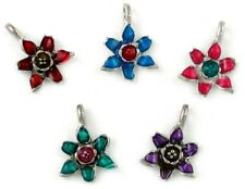 Epoxy Enamel Flower You Choose Color - 14x19x4mm