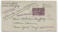 1942 Pine Camp NY military free frank with special delivery stamp [3865]