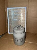 Rae Dunn Artisan Collection By Magenta COOKIES Grey Baby Small Canister