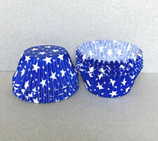 Royal Blue Star Cupcake Liners, Blue Cupcake Wrappers, Blue Baking Cups
