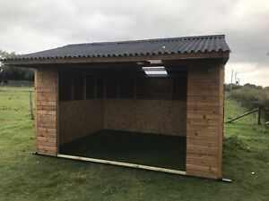 WOODEN STABLES MOBILE SHELTER Horse Stables 12X12 Field Shelter mobile Or Static