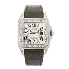 Cartier Genuine Leather Strap Unisex Wristwatches