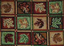 Tapestry Placemat~Fall Leaf~Thanksgiving Oak~Harvest Maple~Red~Tan~Green~NEW