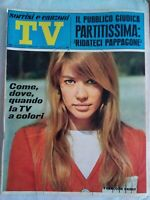 tv sorrisi e canzoni 41 1967 hardy sheridan endrigo franco ciccio pappagone solo