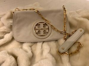 Tory Burch bag - cream leather - gold material chain strap
