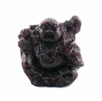 103.90 Carat  BUDDHA CARVING CARVED NATURAL RED RUBY GEM STONE GEMSTONE  EBS1415