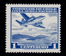 CHILE    SCOTT# C227   MNH    PLANE TOPICAL (OVER MOUNTAIN LAKE)