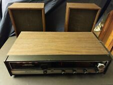 Vtg. Realistic 8-Track Player Stereo w/ Two Speakers, Mod.No. 12-1402A, Works.