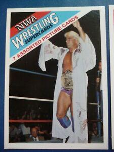 NWA Wonderama 1988 Wrestling card checklists & Flair header card