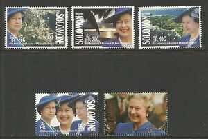 Solomon Is 1992 Queen Elizabeth II 40th Anniv--Attractive Topical (708-12) MNH