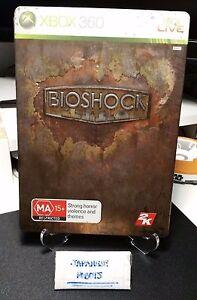 Bioshock Steelbook Limited Edition steel metal book case xbox 360