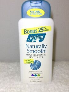 Jergens Naturally Smooth Shave Minimizing Lotion 16.6 oz, Large Sz, Discontinued