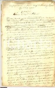 1850 ca manoscritto italiano WARNKONIG SAINT SIMON RARO