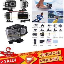 go proSPORT ACTION CAM  CAMERA FULL HD 1080p WATERPROOF VIDEOCAMERA SUBACQUEA GO