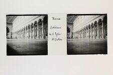Rome Roma St Julien Italie Italia Plaque de verre Stéréo positive ca 1905
