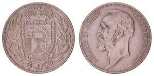 XE.069} LIECHTENSTEIN 2 kronen 1912 / Silver / VF+