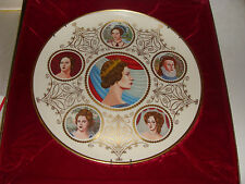 Queens of England 1977 Queen Elizabeth II Silver Jubilee Plate  #683/5000 w/COA