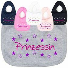 Lätzchen PRINZESSIN Latz Mädchen Baby Krone Sterne CrazyShirt