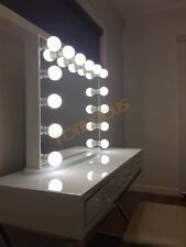 l frameless white hollywood vanity beauty makeup mirror with dimmable led lights