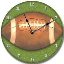 SPORTS Clock Personalized Nursery Wall Art Clock - FOOTBALL
