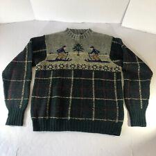 Polo Ralph Lauren Fair Isle Hand Knit Wool Lambs Wool Ski Sweater Men Medium